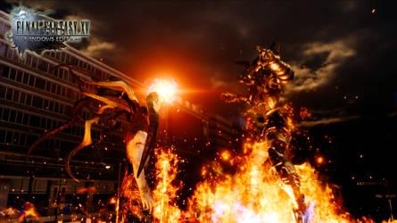 Final Fantasy XV - Ifrit vs Somnus