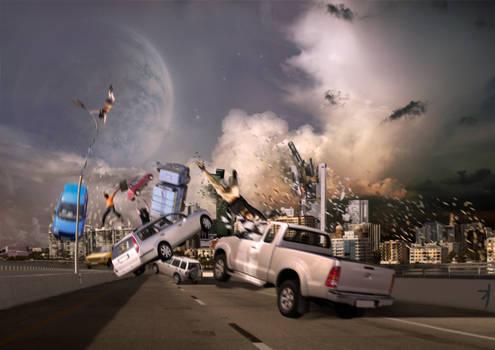 Apocalypse: Moon collision