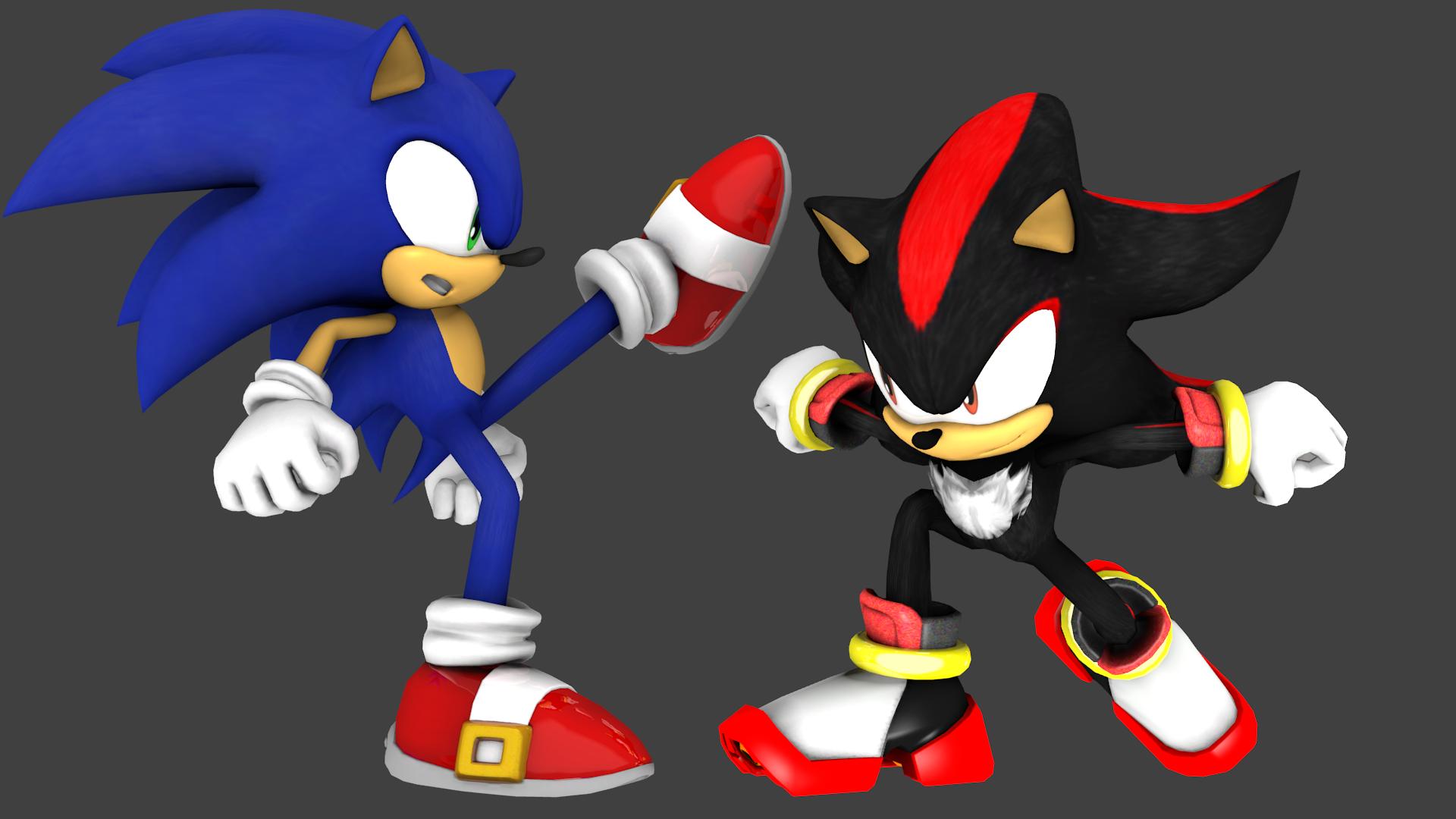 Sonic vs shadow sonic x render by jogita6 on deviantart - Sonic et shadow ...