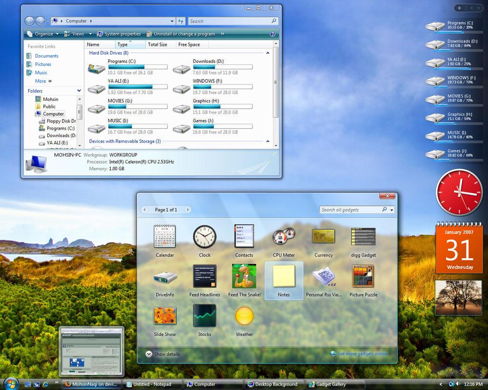 My Vista desktop by MohsinNaqi