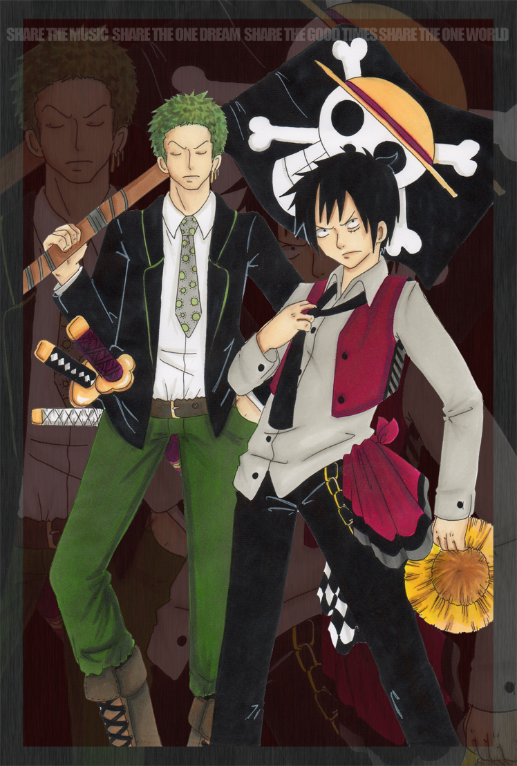 Luffy and Zoro by Hear...