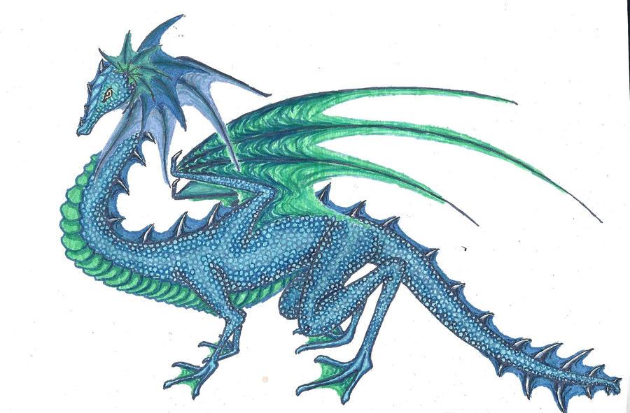 Aquatic Dragon by tru-wulf