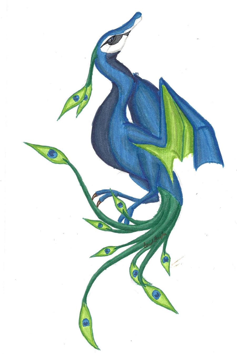 Peacock Dragon by tru-wulf
