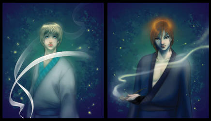 Shunsuke and Tatsuya by C4mi
