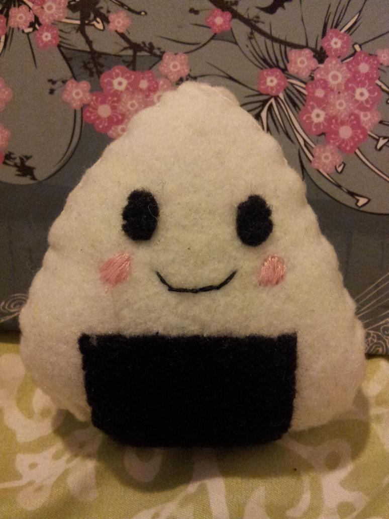 kawaii onigiri plushie by poodlebear98