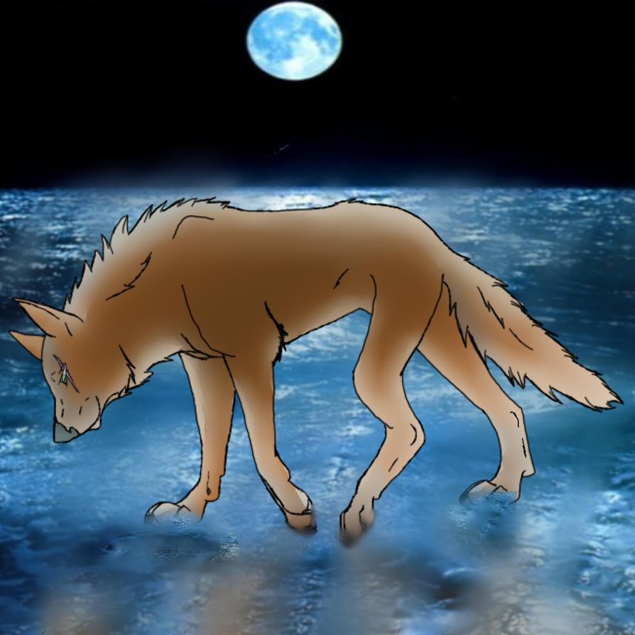 Walk in the moonlit sea by KLSenko
