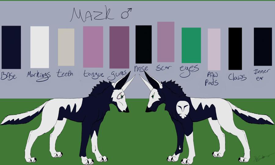 Mazk Ref Sheet by KLSenko