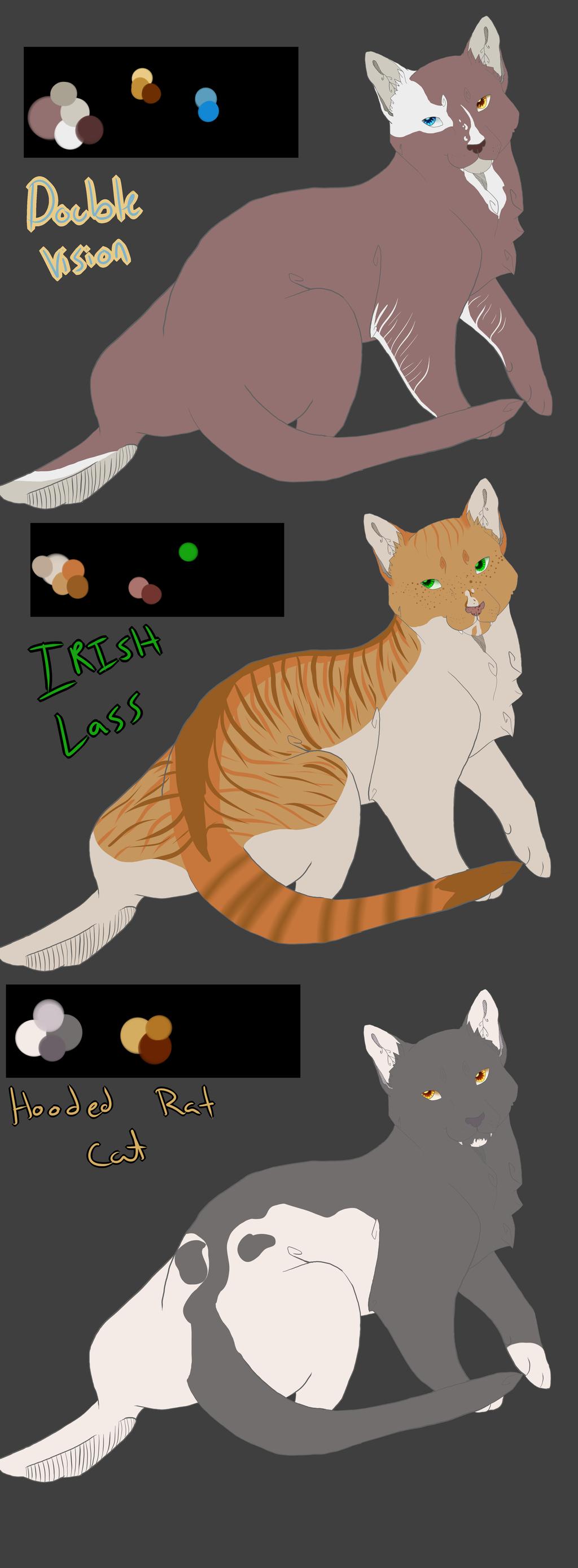 Feline adoptables by KLSenko