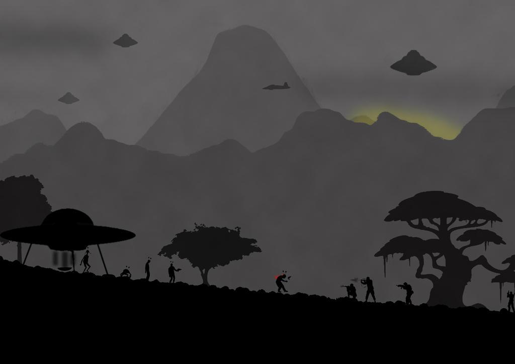 Aliens wallpaper by kalmaster