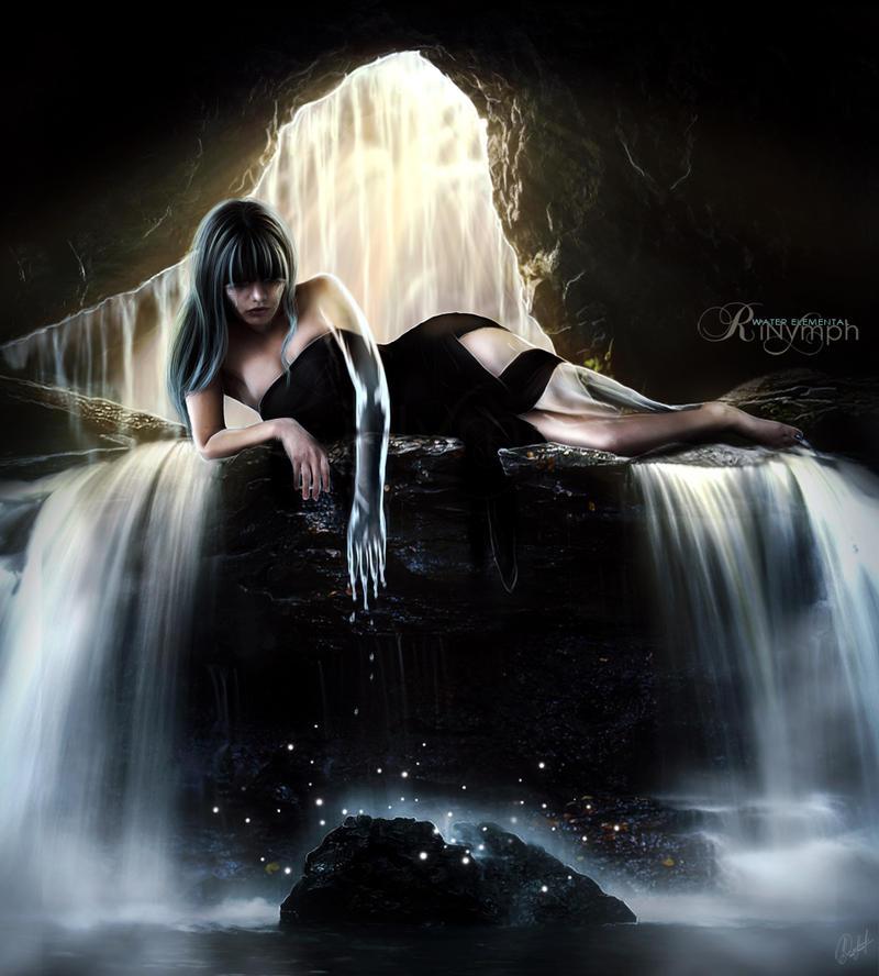 Water Elemental: Naiad by CristaliaART