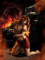 Fire Elemental: Adena by CristaliaART