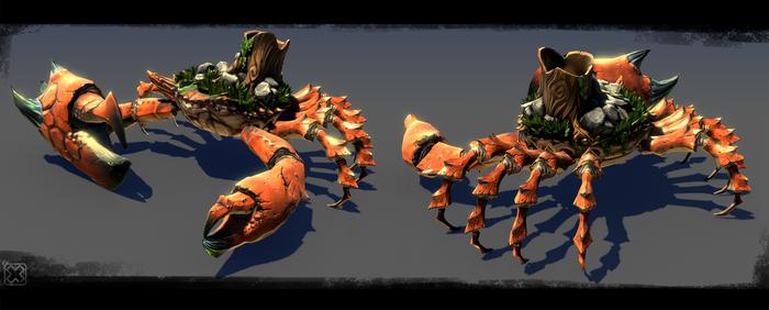 ::crab battle::