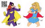 batgirl vs supergirl by rantz FLATS