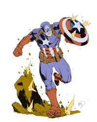 Captain America by Max Dunbar FLATS by lstowe