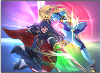 Lucina and Samus Smaaash by ChronicRift