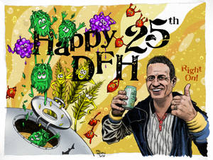 Dogfish Head Craft Brewery 25th Anniversary Card