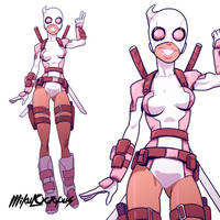 Gwenpool by Mikuloctopus