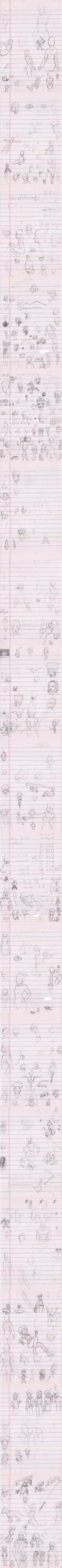 Doodle Dump (December 2014, II) by Zcmrrd