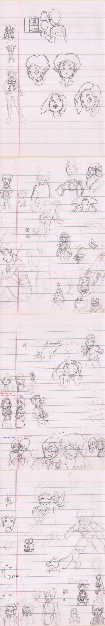 Doodle Dump (December 2014, III) by Zcmrrd