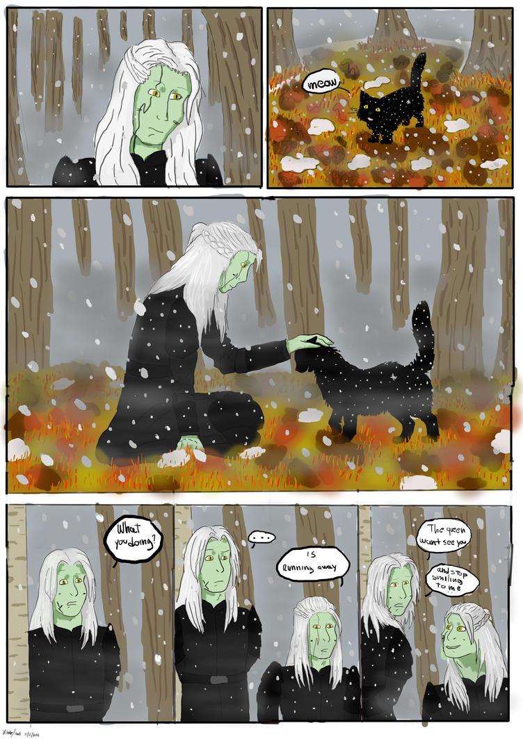 Fog, Snow and a black cat by DynamiteKiba