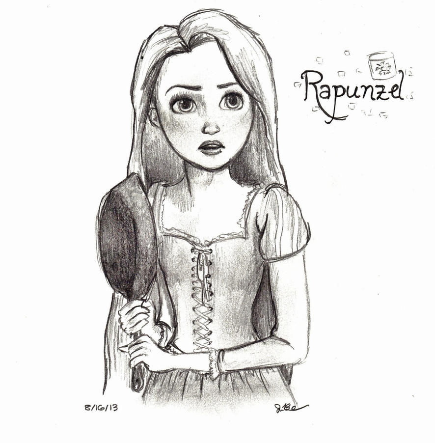 Disney Sketch - Rapunzel by kt-grace on DeviantArt