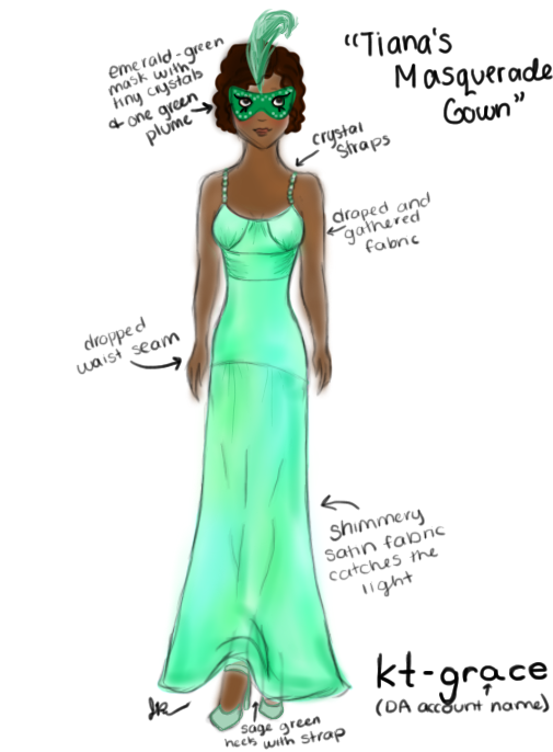 Tiana\'s Masquerade Gown- Nina-D-Lux Disney High by kt-grace on ...