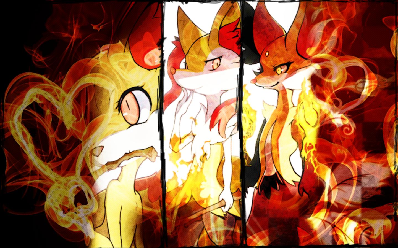 Fennekin braixen delphox wallpaper pokemon xy by rainbowicescream on