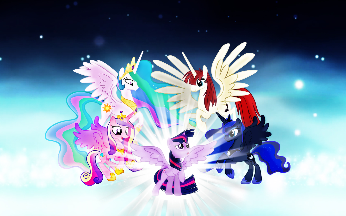 My Little Pony Princess Wallpaper By Rainbowicescream On