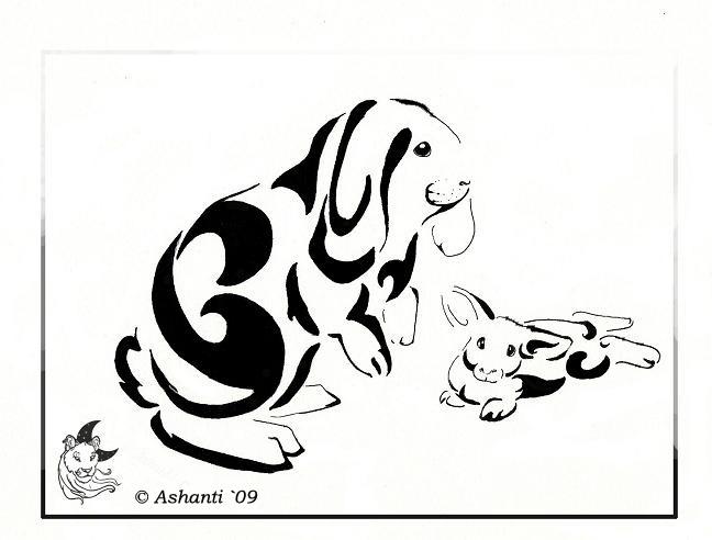 Rabbit Tattoo Art Rabbit Tattoo