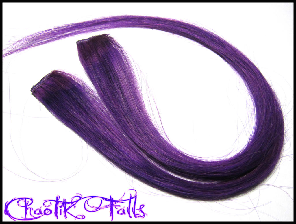 Plum Purple Clip in Hair Extensions by ChaotikFalls on ...
