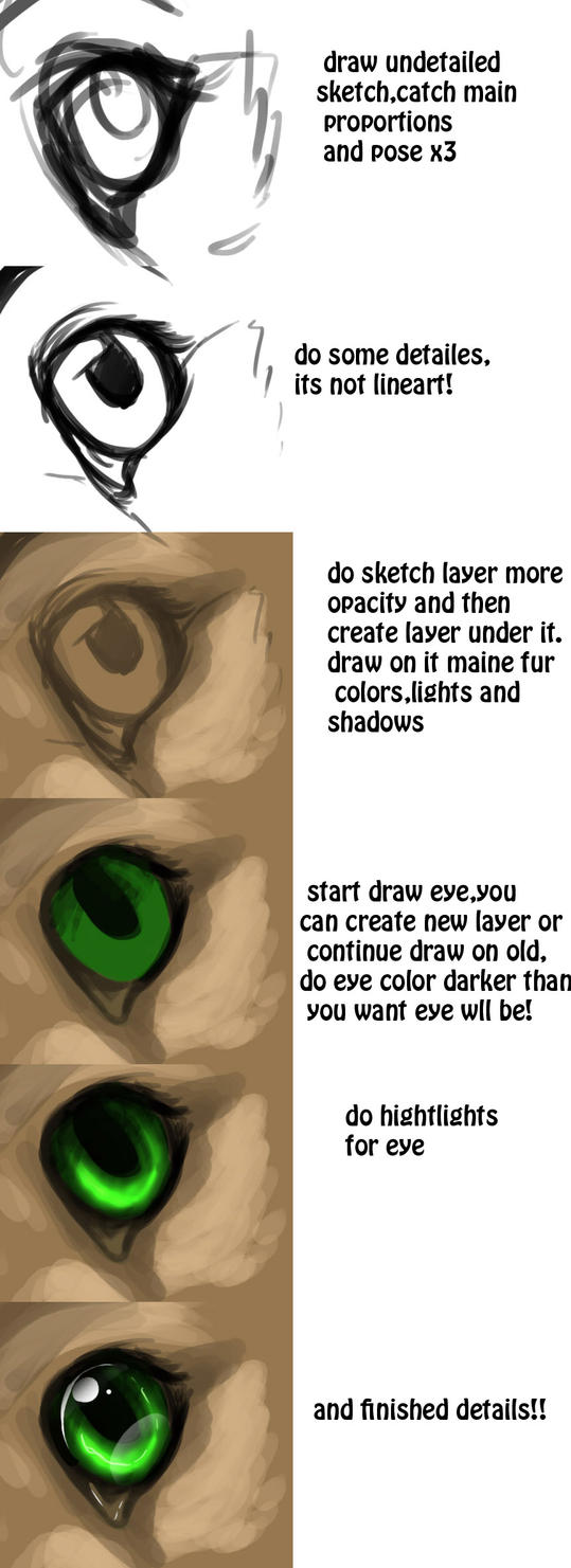 tutorial-How To Draw Eye by Silverbloodwolf98