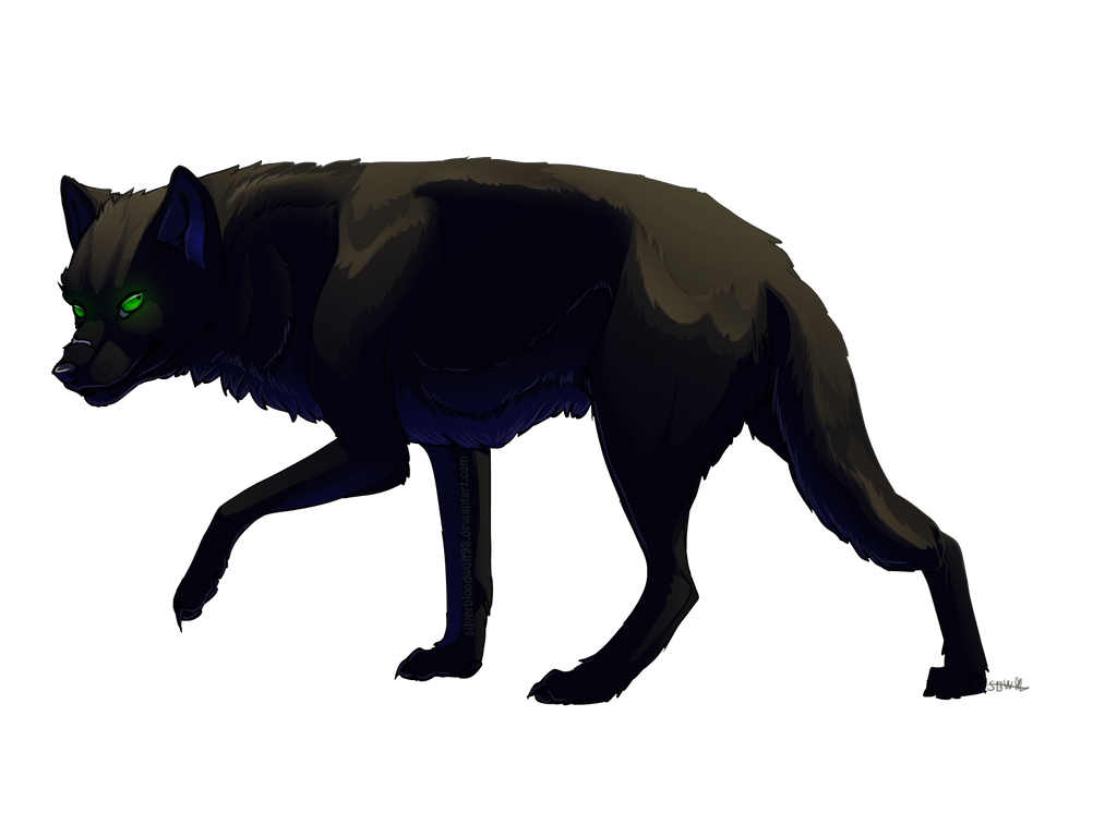 How To Draw Black Wolf