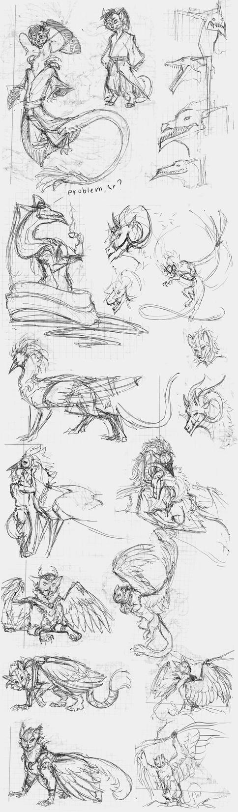 Sketches by Silverbloodwolf98