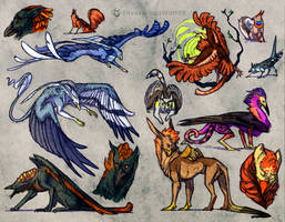 Creature sketches 2 by Silverbloodwolf98