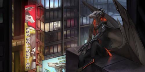 Modern Gargoyle ENG|RUS by Silverbloodwolf98