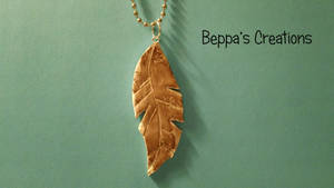 Stained Feather Necklace by BeppasCreations