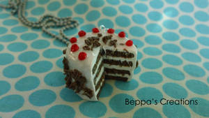 Black Forest Cake Necklace by BeppasCreations
