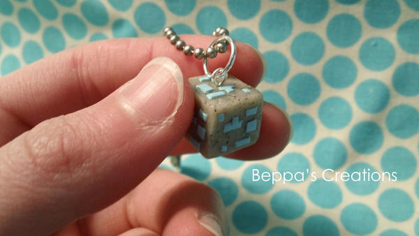 Minecraft diamond ore block necklace by beppascreations on deviantart minecraft diamond ore block necklace by beppascreations aloadofball Choice Image