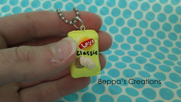 Potato Chip Bag Necklace by BeppasCreations