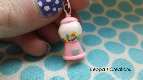 Pink Gumball Machine CHarm by BeppasCreations