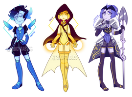 Gem Adopts - Pearls (OPEN 2/3) (REDUCED) by KitAdoptables