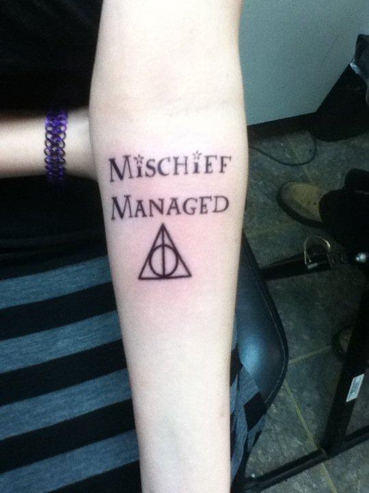 Mischief Managed, my first tattoo by Sirigirl92 on DeviantArt