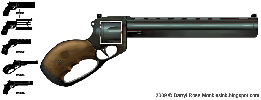 Weapon design revolver by dmanrose