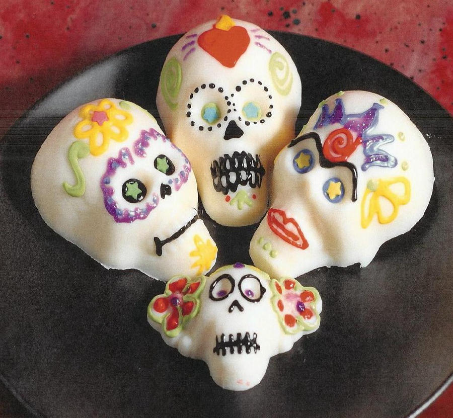sugar candy skulls by heartofthesouth