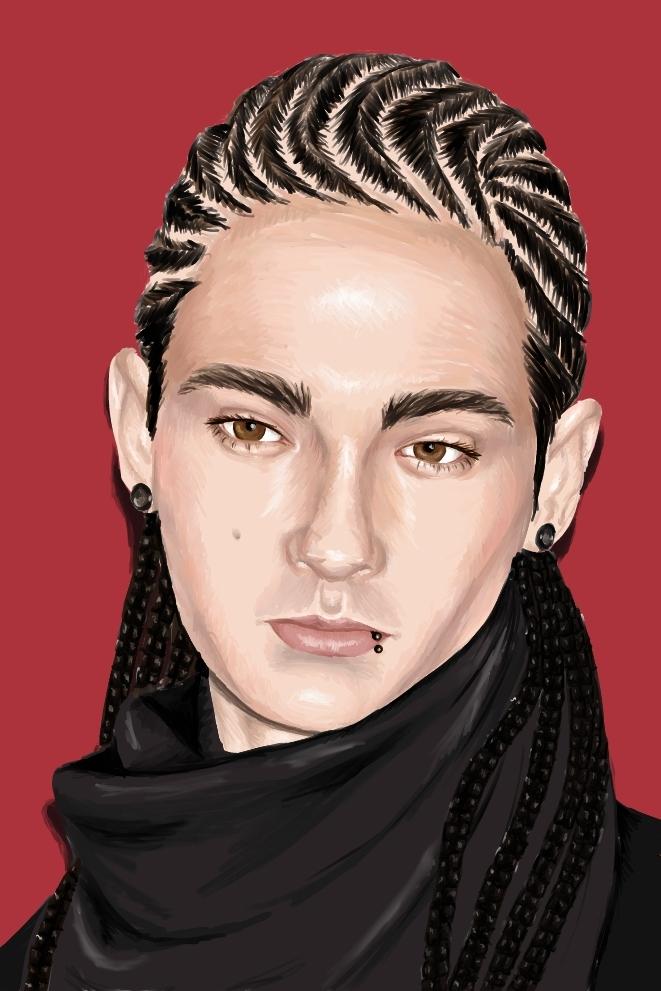 Speed Paint Tom Kaulitz By Poormedea On Deviantart