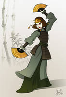 Kyoshi's guardian by asa-bryndis