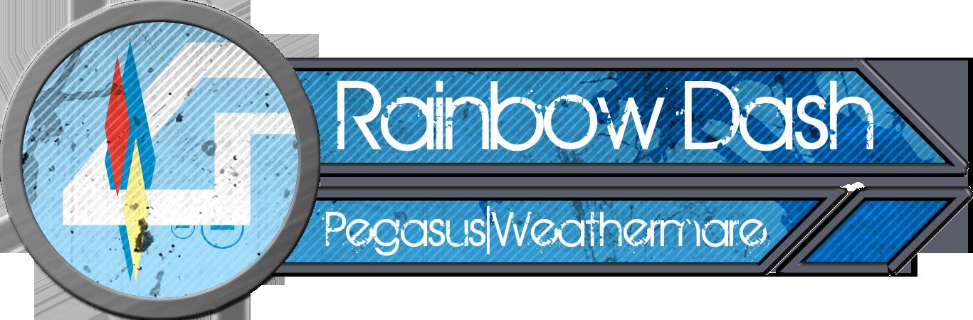 Metal Tag - Rainbow Dash by blazeLimit