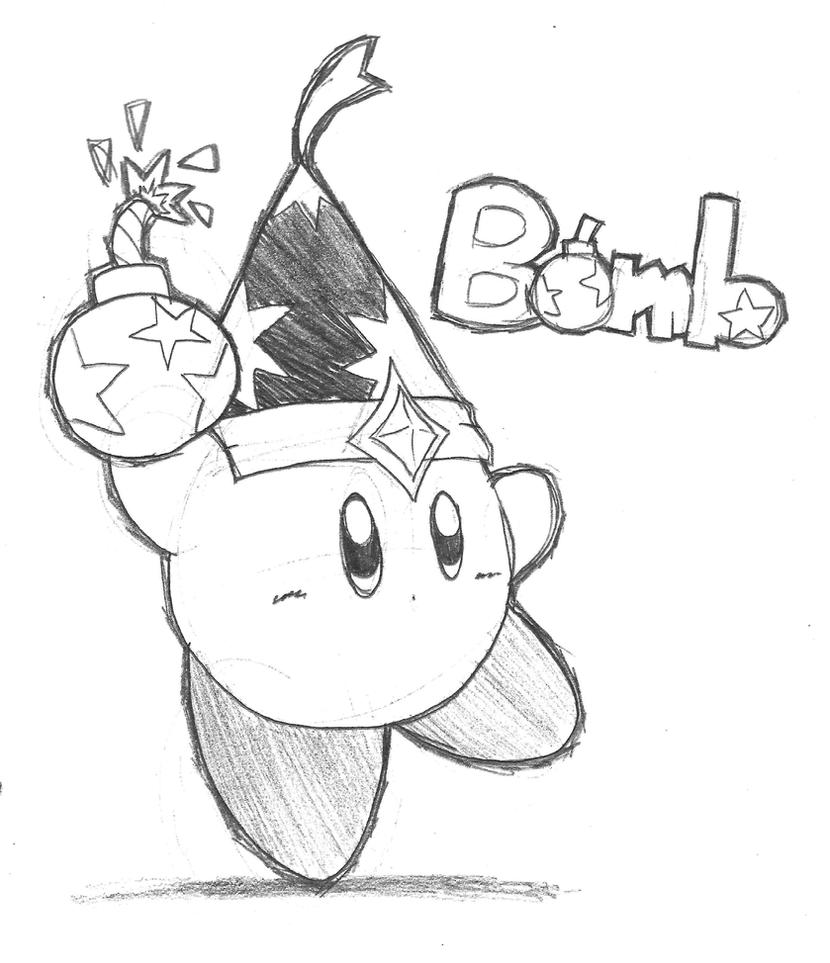 Bomb Kirby Pencil by riodile on DeviantArt