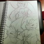 Doodle Dee - 16-01-05 - Exveemon Sketch