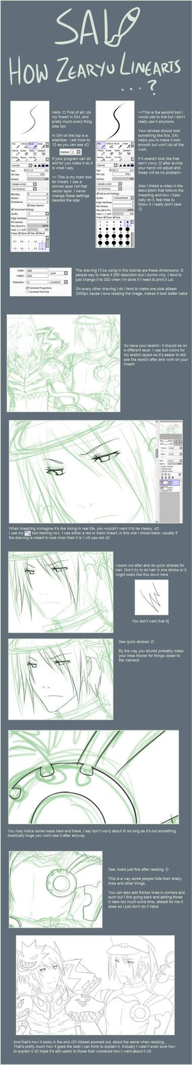 SAI lineart tutorial...ish